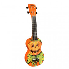 Mahalo Art Series Mahaloween Ukulele Orange inkl. bag