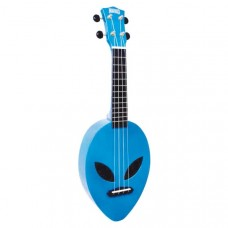 Mahalo Alien Ukulele Metallic Blue inkl. bag