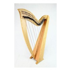 EMS 29 String Heritage Student Lever Harp in Ash