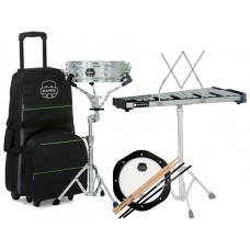Mapex MCK1232DP Convenient Backpack Snare Drum/Bell Percussion Kit, includig Rolling Bag