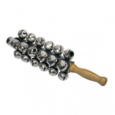 Hayman HB-170 Sleigh Bell with Wood Handle and 25 bells. 27 mm in diameter